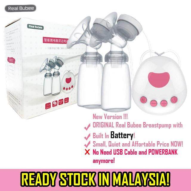 (ready Stock) Real Bubee Built In Battery Rechargeable Pam Susu Electric Auto Double Dual Breast Pump / Breastpump By Babybabyku.