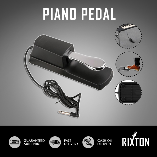 Rixton Metal Synthesizers Piano Pedal Durable Anti Slip Musical Electric Piano Keyboard Sustain Pedal Damper Instrument Accessories Malaysia