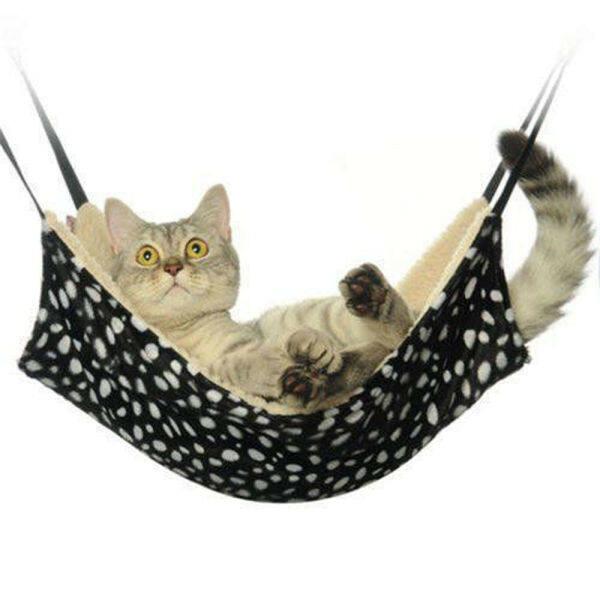 Võng Mèo Thoáng Khí Túi Treo Ngủ Giường Mèo Ấm Áp Thảm Da Báo Thảm Cashmere Cừu Thoải Mái Cho Mèo Đồ Dùng Thú Cưng