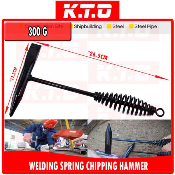 [300G, 500G] RUST REMOVING WELDING CHIPPING HAMMER / SLAG HAMMER / Tukul Kimpalan with SPRING HANDLE