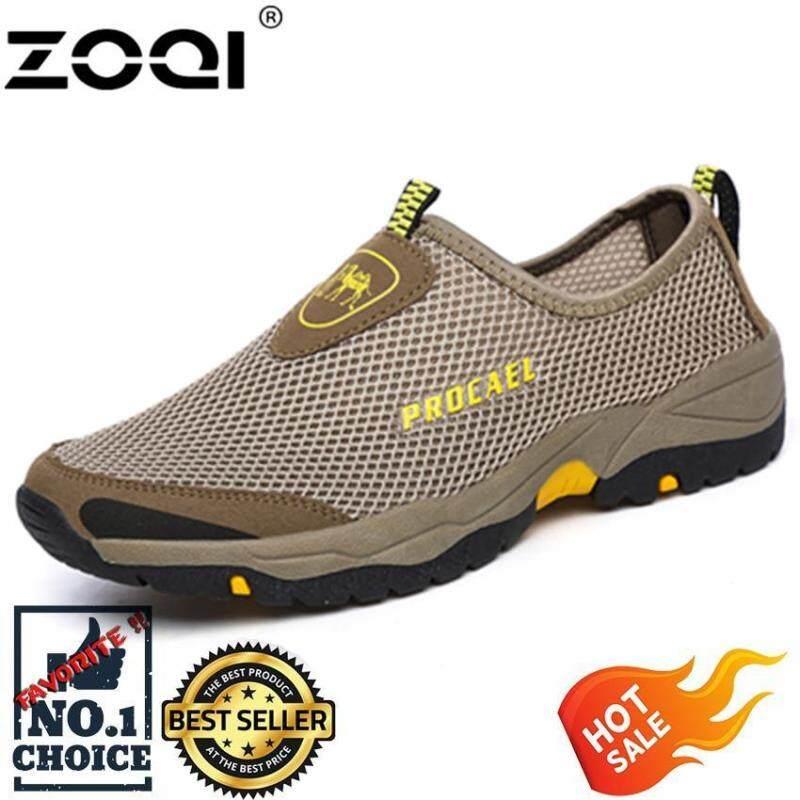 Zoqi thời trang Giày lưới slip-on giày tập đi (Xanh Lá)-quốc tế