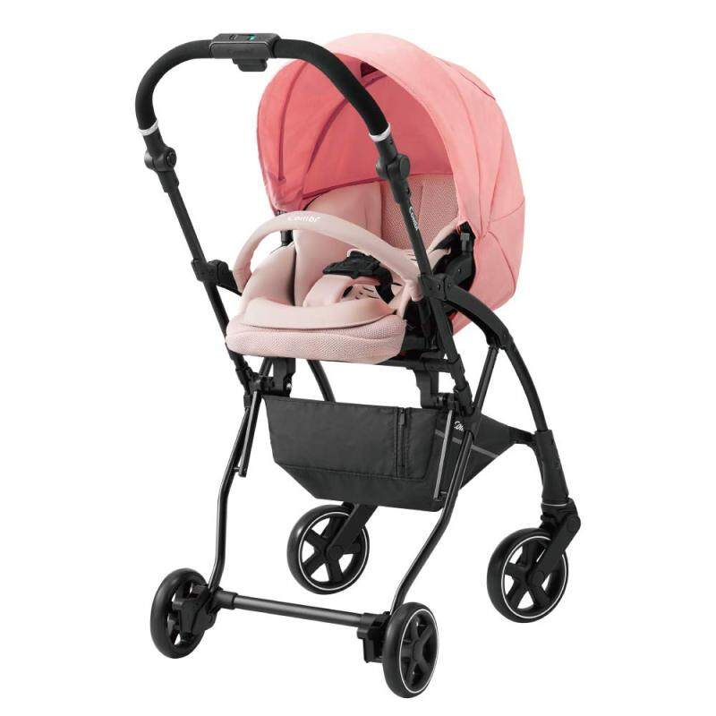 Combi stroller AttO (at) type-L SG standard conformity Light Pink 1 month - Singapore