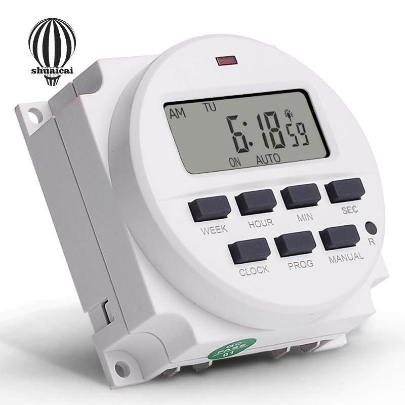 SC DC12V Digital 7 Days Programmable 24 Hours Cycle Timer Switch Voltage:12V