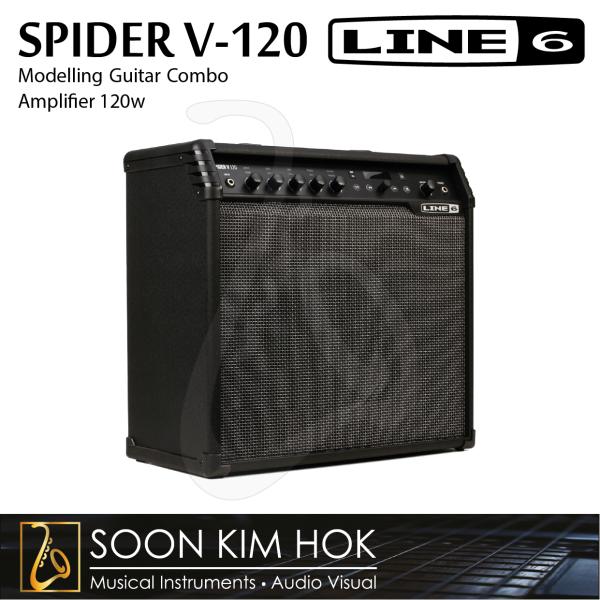 LINE 6 SPIDER V-120 Modelling Guitar Combo Amplifier 120 Watts, 12 Spk + Tweeter Wireless-Ready (V120) Malaysia