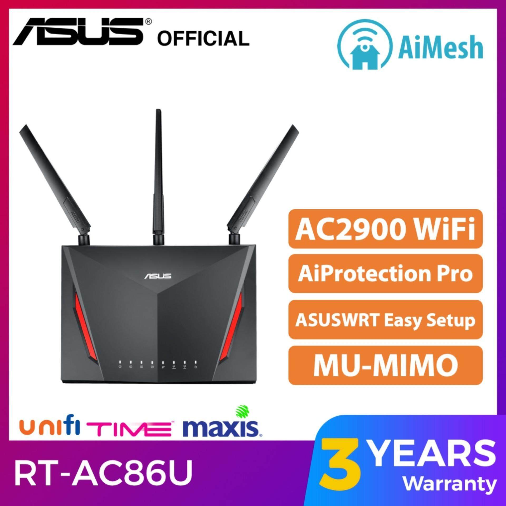 ASUS RT-AC86U AC2900 AiMesh WiFi Router MU-MIMO Unifi Wireless Router RT  AC86U 800Mbps