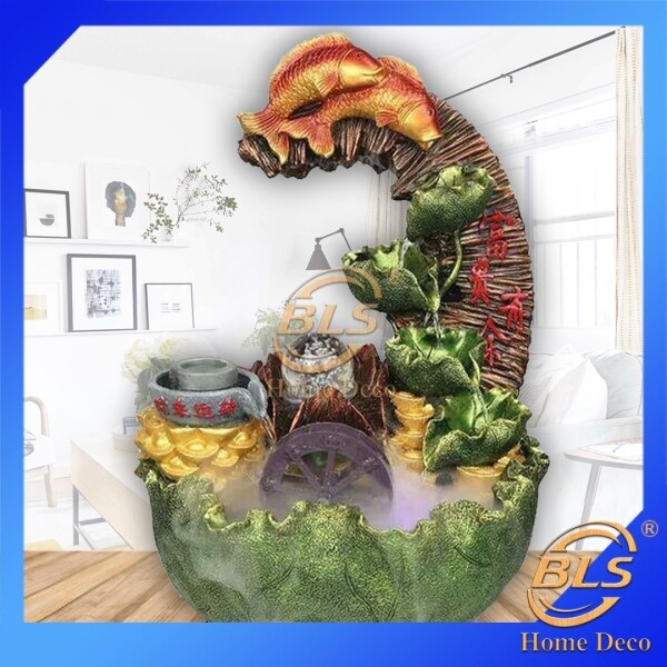 FENG SHUI WATER FOUNTAIN LX1988 - FISH HOME DECORATION