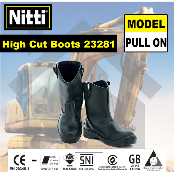 NITTI HIGH CUT SLIP-ON SAFETY SHOES BOOTS (23281)