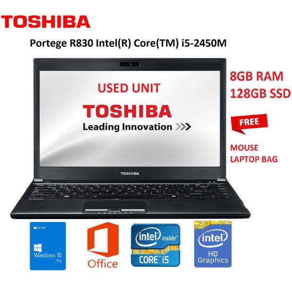 Toshiba     R830-1GZ 13.3 inch Laptop (Intel Core i5-2450M 2.5GHz, 8GB/128GB SSD,Windows 10 PRO Malaysia