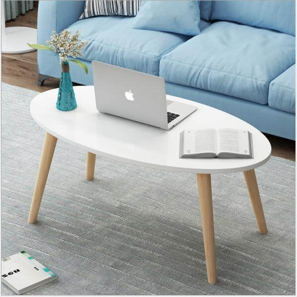 Nordic Coffee Table Simple Modern Small Apartment Living Room Sofa Side Table Household Bedroom Small Round Table Mobile Small Coffee Table