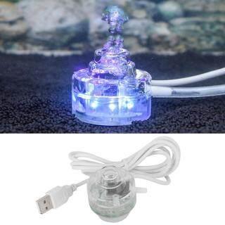 Nhỏ Đầy Màu Sắc Đèn LED Chìm Được Dưới Nước Đèn Trang Trí Cảnh Quan Với Không Khí Đá Cho Bể Cá Aquarium 110-240V Quy Định Châu Âu thumbnail