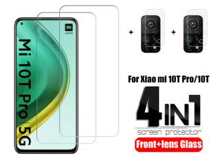 Bộ Phim Chụp Hình 4 Trong 1 2 Miếng Kính Cường Lực + 2 Miếng Dùng Cho Xiaomi Mi 10T Pro Glass Xiaomi 10T Pro Xiaomi 10T 10T Pro 10T Tấm Phim Miếng Bảo Vệ Màn Hình Phủ Toàn Bộ Chống Trầy Xước thumbnail