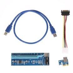 4Pin PCI-E 1X Đến 16X USB3.0 Bộ Mở Rộng Thẻ Đồ Họa Cáp Khai Thác BTC