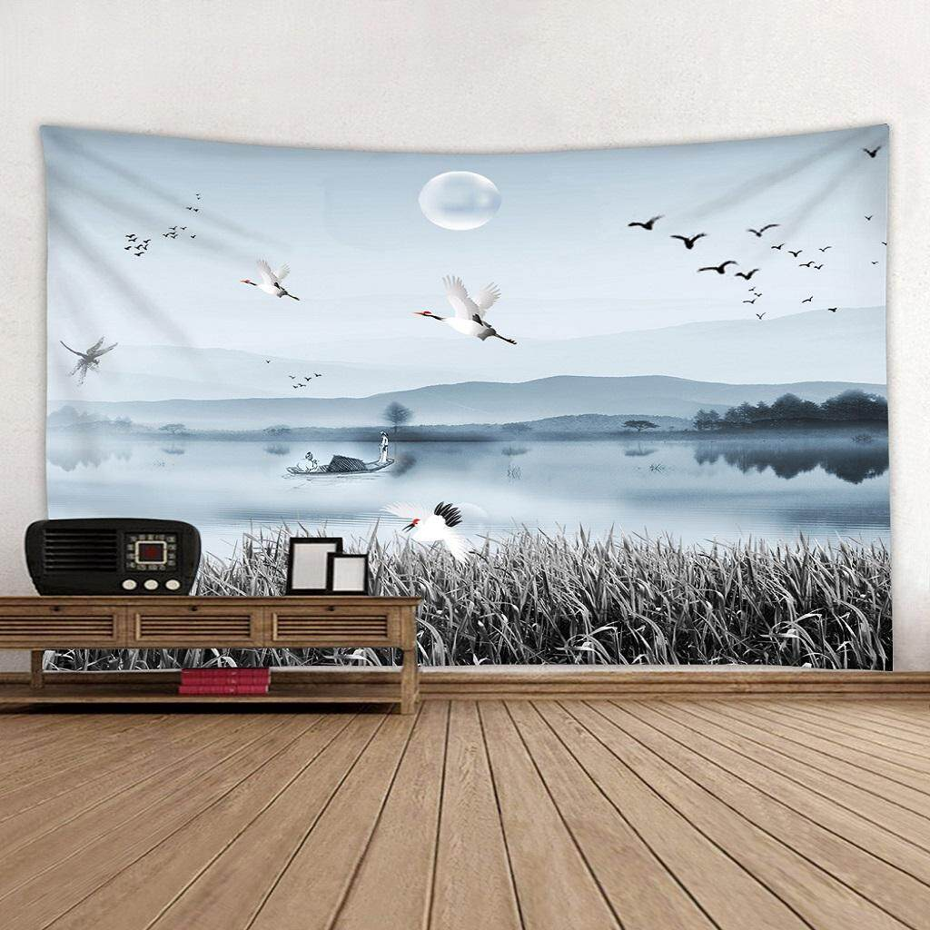 BolehDeals Tapestry Wall Tapestry Wall Hanging Wall Splendid lake Blanket Art
