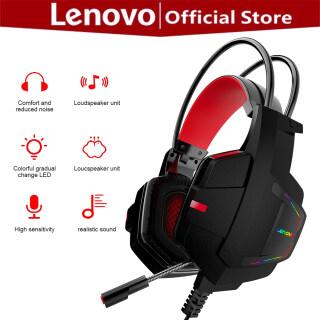 Tai Nghe Trò Chơi Lenovo HU85, Tai Nghe Khử Tiếng Ồn Âm Thanh Nổi Có Dây Với Microphone Có Thể Điều Chỉnh, Dành Cho Máy Tính Xách Tay PC thumbnail
