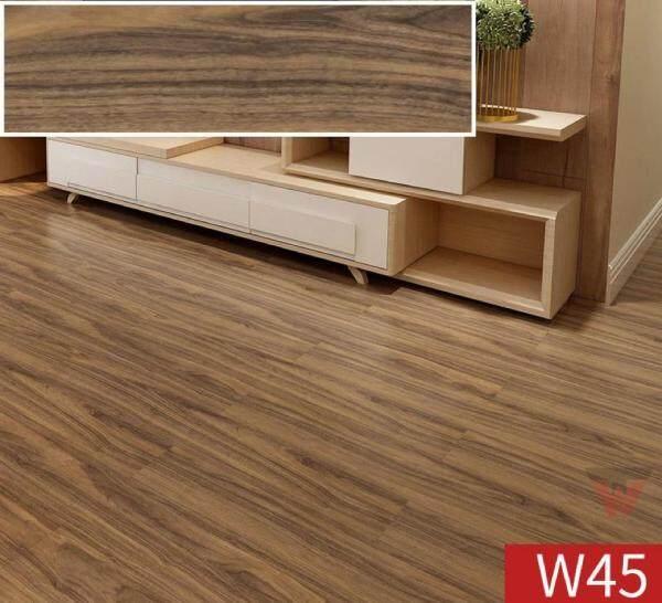 VINYL FLOOR with glue - 1.5mm Lantai Vinyl Flooring Tikar Getah Floor DIY - SELF ADHESIVE Self Stick Water Proof - DIY LANTAI PAPAN PVC 6x36inch 18pcs/28sqft