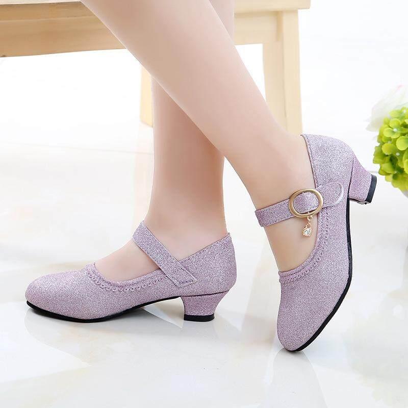 Giá bán OEMChildren Da Giày Nữ Giày Nữ Mùa Xuân Và Mùa Thu 2019 Phong Cách Mới Hàn Quốc-phong cách Giày Cao Gót Giày Công Chúa Lớn Bé Trai chống trơn trượt Sinh Viên YAN Chu Tạ