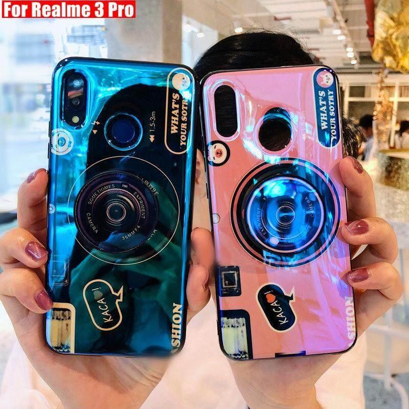 Giá Tia xanh 3D bao đựng máy ảnh Cho Realme 3 Realme 3 Pro Trường Hợp Silicon Mềm Ốp điện thoại TPU Ốp điện thoại