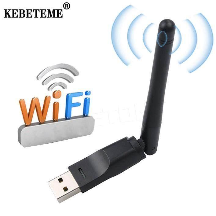 Giá Kebeteme USB 2.0 150M WIFI Card Mạng Không Dây 802.11 B/G/N Lan Adapter Với Xoay Được Ăng Ten dành Cho Laptop Mini Wi-Fi Dongle