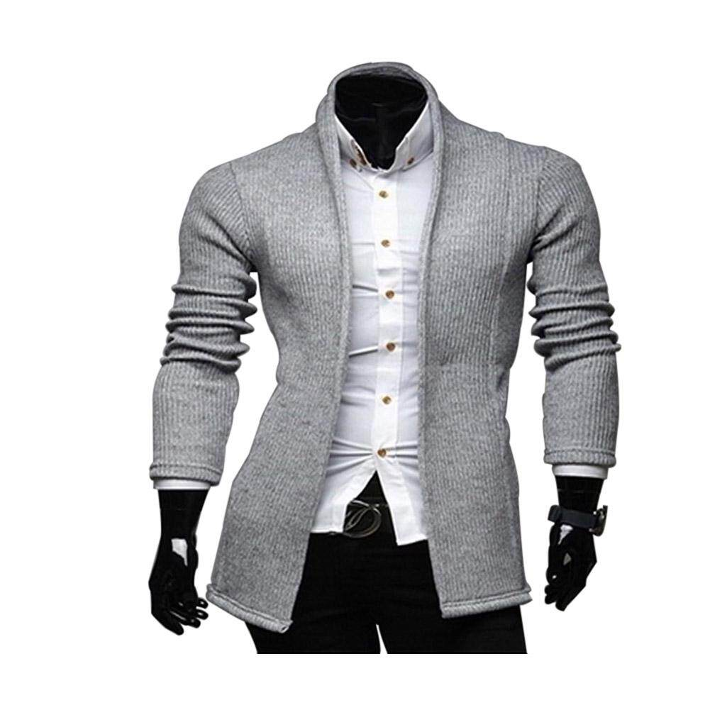 Rd Men V-Neck Solid Color Slim Fit Simple Style Casual Coat By Redcolourful.