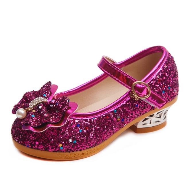 Giày Bé Gái Cao Gót Công Chúa Khiêu Vũ Dép Trẻ Em Giày Glitter Da Thời Trang Váy Dự Tiệc Cho Bé Gái Giày Cưới Mùa Xuân Trẻ Em giá rẻ