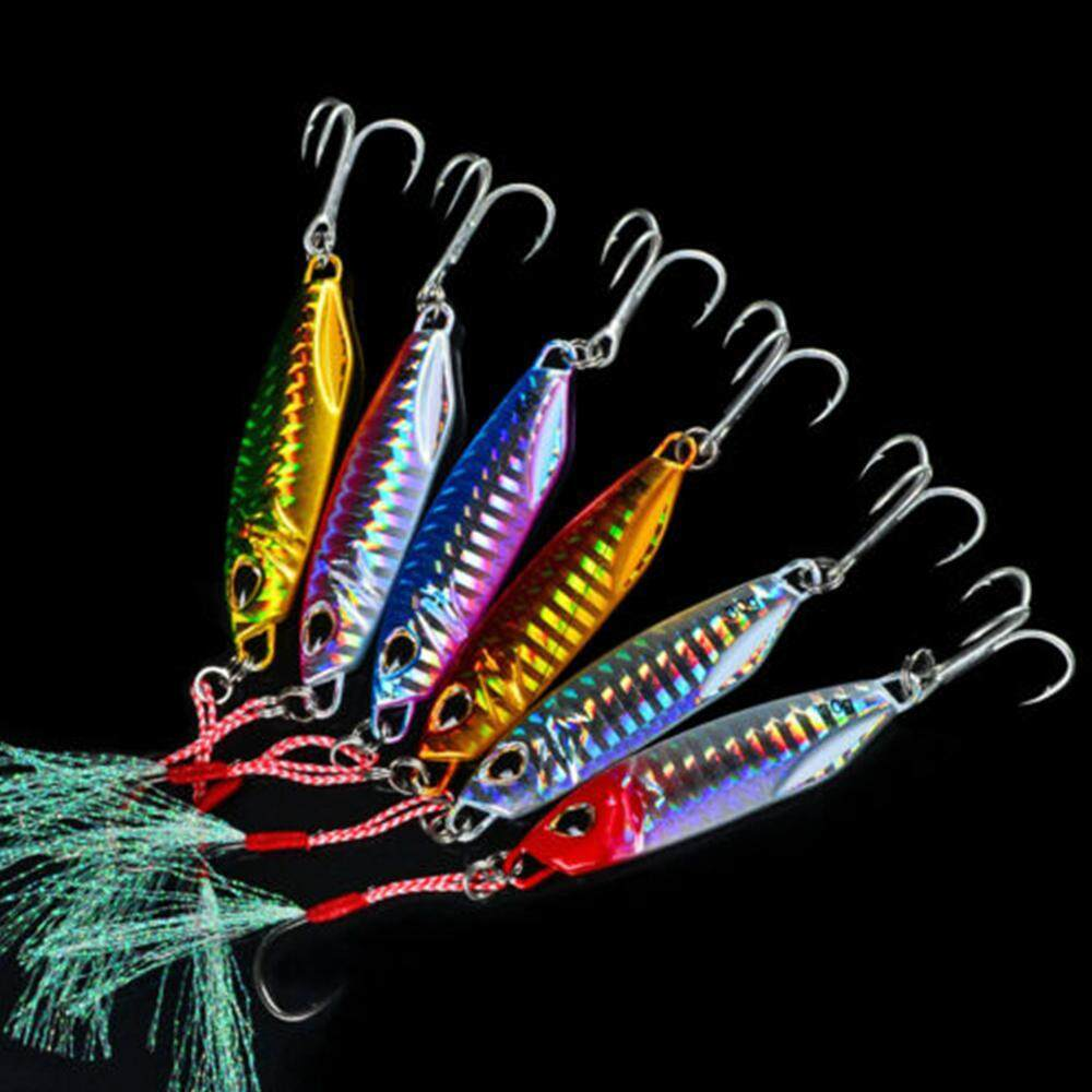 40g 50g Minnow Feather Metal Fishing Lures Lead Casting Jig Bait Spinning Baits