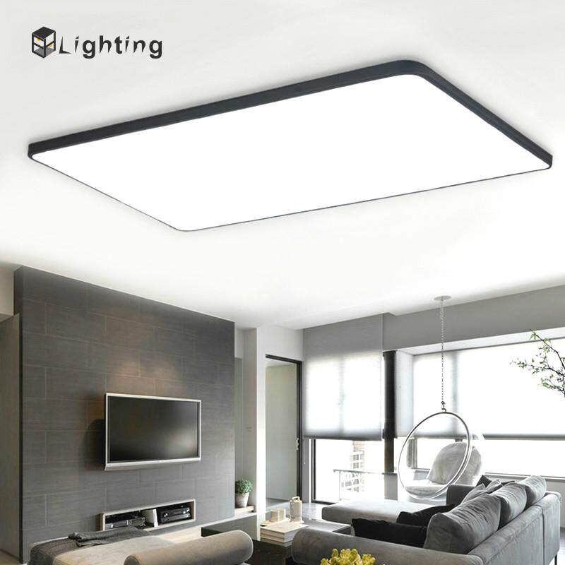 32W Modern Iron Art Ceiling Lights Ultra-thin Square LED Ceiling Lamp Kitchen Light Fixtures Living Room Dining Room Surface Mount - 60*40*5CM