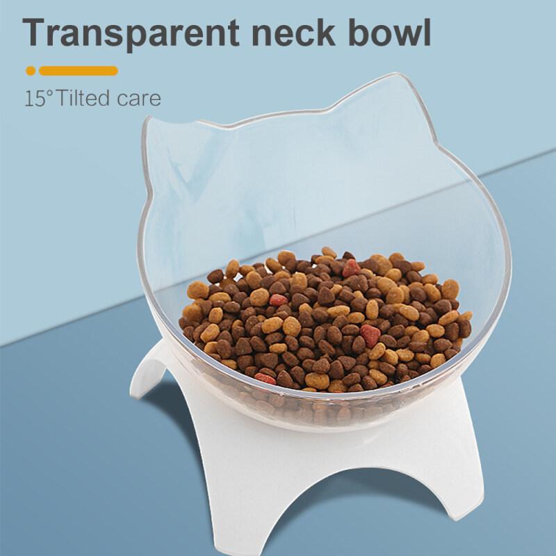 Bát Thức Ăn Cho Mèo Cưng Nâng Cao 15 ° Nghiêng Miệng Bảo Vệ Cột Sống Cổ Tử Cung