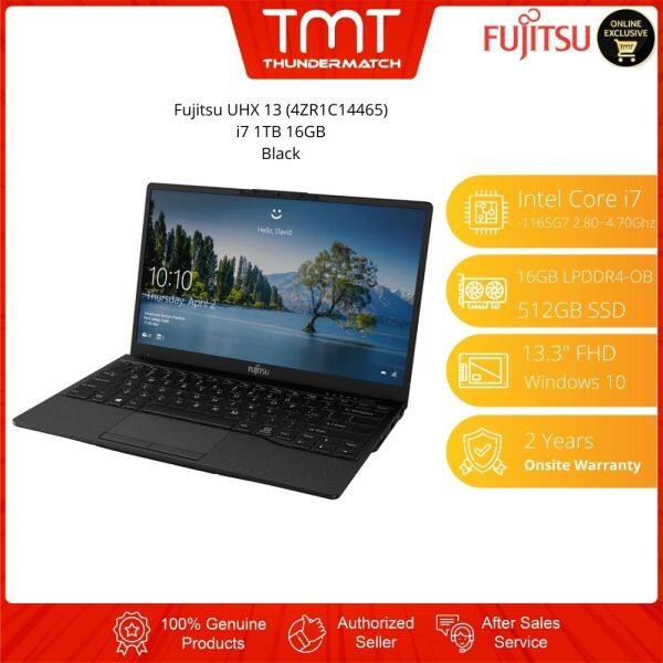 Fujitsu Laptop UHX 13 (4ZR1C14465) Black | i7-1165G7 | 16GB 1TB SSD | 13.3 FHD | W10 | 2 Years Warranty Malaysia