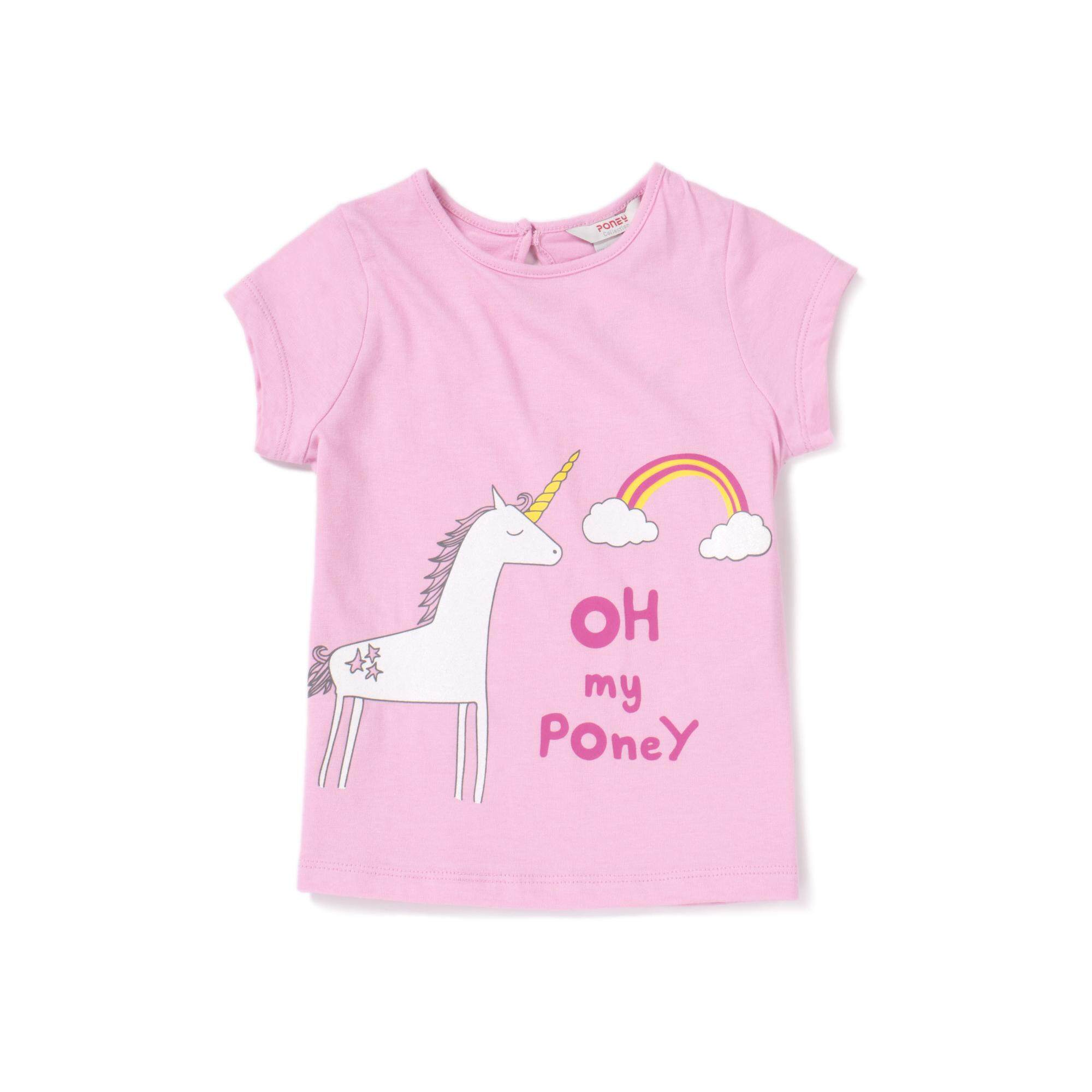 7fdca6994bb2a3 PONEY OH MY UNICORN TEE GIRL TOP VB SP19 7882BK (LIGHT PURPLE)