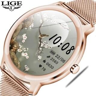 Đồng Hồ Thông Minh LIGE 2020 Cho Nữ, Đồng Hồ Thông Minh Sinh Lý Chống Nước Cho Android IOS thumbnail