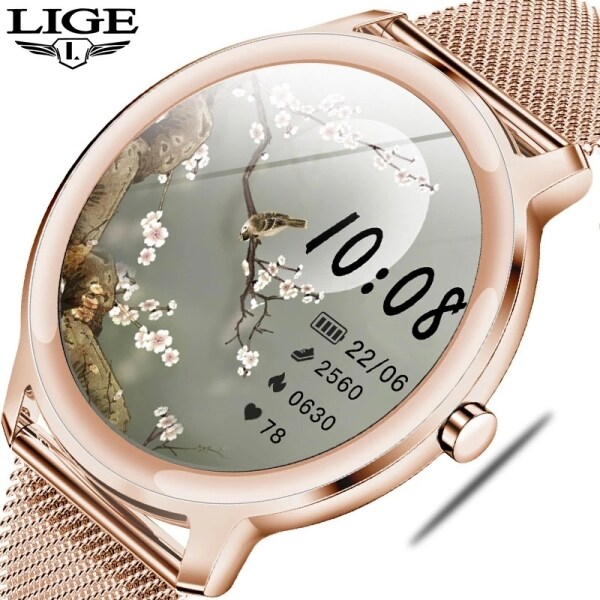 LIGE 2020 New Smart Watch Women Physiological For Android IOS Waterproof Ladies Jam Tangan Wanita Malaysia