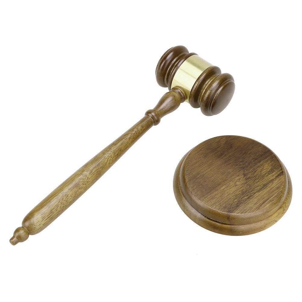 Durable Wooden Handmade Craft Lawyer Judge Auction Hammer Gavel Court Decor
