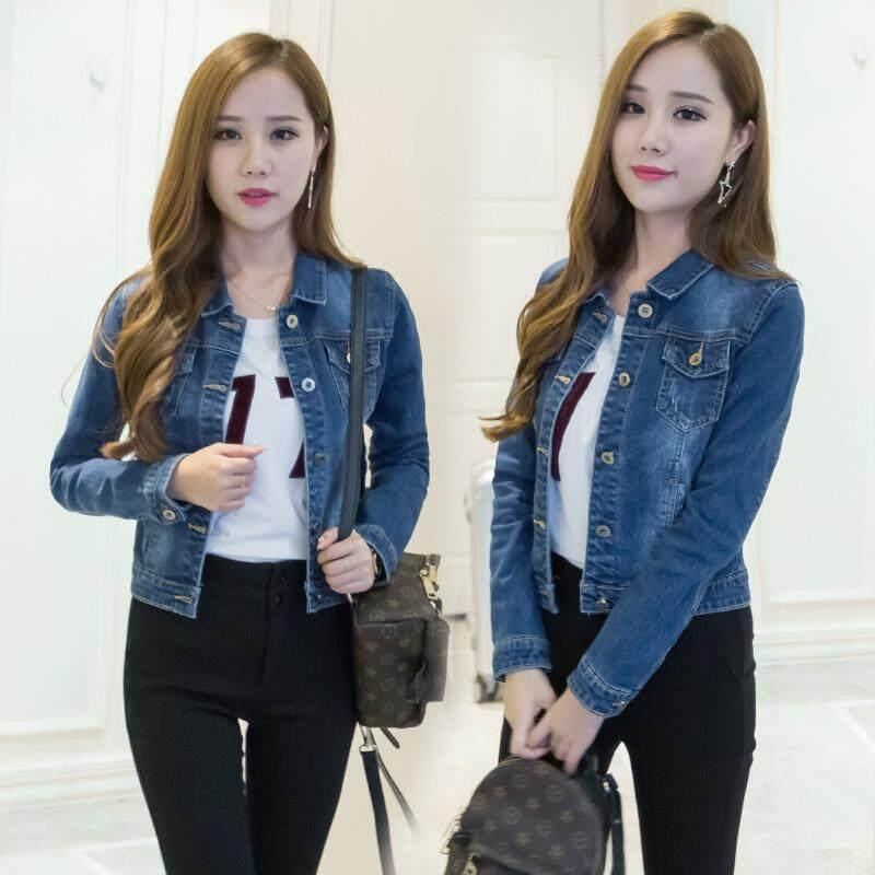 00c7d04323c 2019 Denim Coat Female Short Jacket Slim Fit Wild Students Long-sleeve Jeans