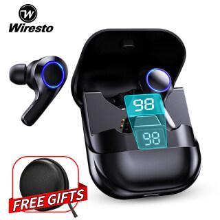 Tai Nghe Bluetooth Không Dây Wiresto Với Micrô Tai Nghe Thể Thao Chống Nước Điều Khiển Cảm Ứng Tai Nghe Âm Thanh Nổi 9D HiFi Bluetooth TWS 5.0 thumbnail