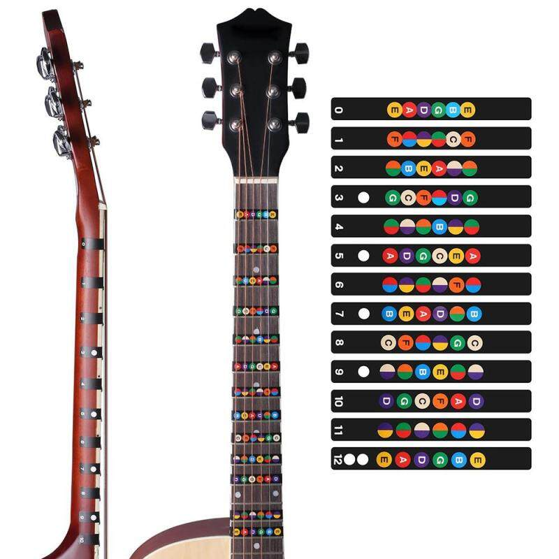Innovative Guitar Fretboard Note Decals Fingerboard Frets Map Sticker for Beginner Learner Malaysia