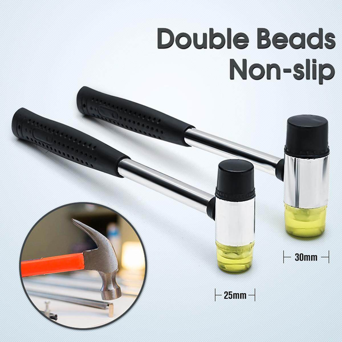 NEW Double Head Nonslip Rubber Hammer Handheld Leather Jewelry Mallet Craft 25/30mm