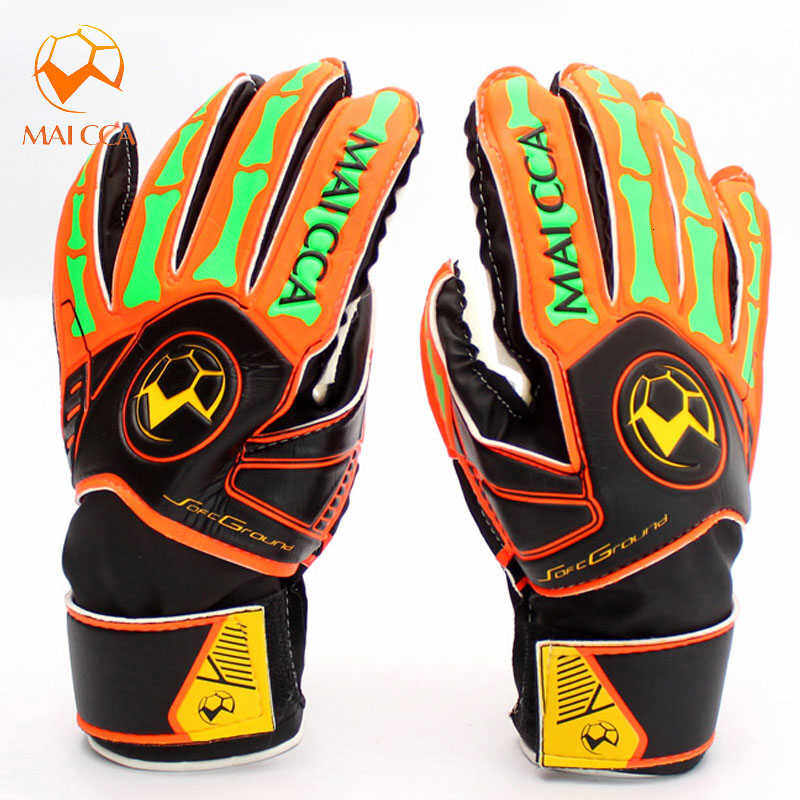 Professional Football Soccer Goalie Gloves Size 5 6 Child Latex Goalkeeper Gloves Sports