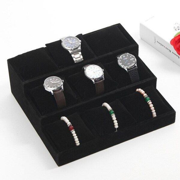 Fashion Velvet 3 Layers Premium Watch Bracelet Stand Pillow Tray Bangle Display Holder Jewelry Organizer Malaysia
