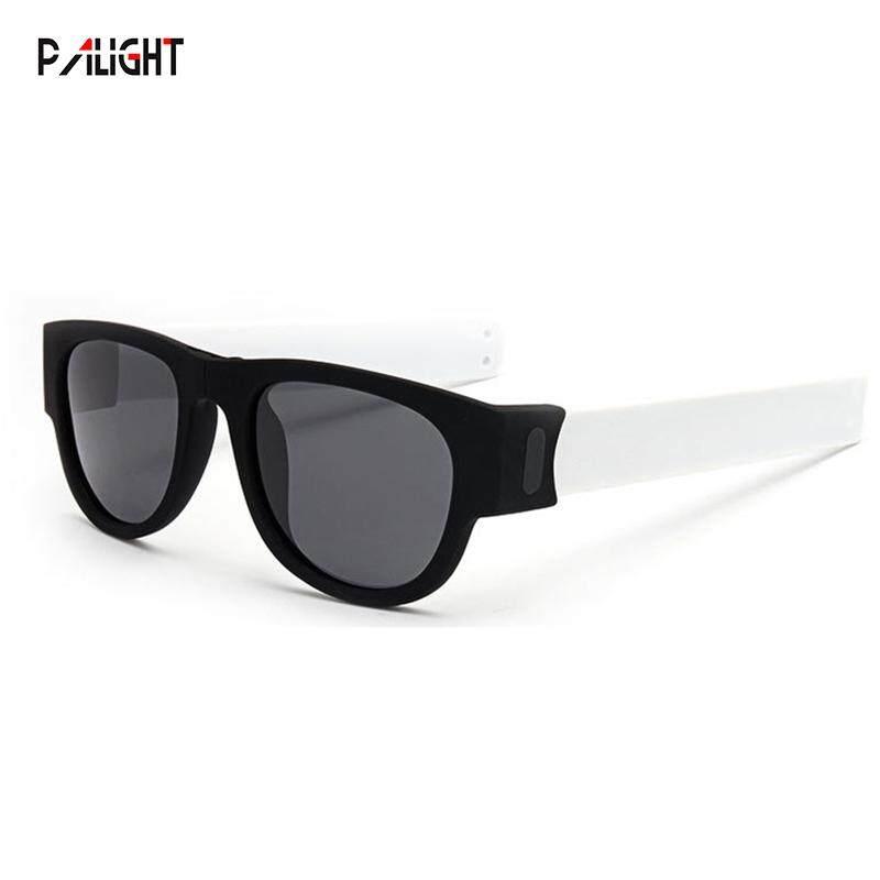 PAlight Foldable Anti-UV Polarized Slap Bracelet Bendable Mirror Legs Sunglasses Fashion Beach Sports Travel
