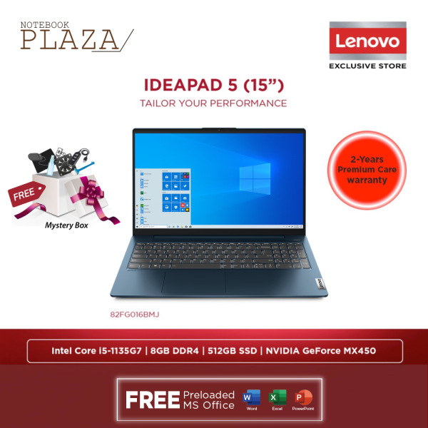 Lenovo IdeaPad 5 15ITL05 82FG016BMJ 15.6 FHD Laptop Abyss Blue ( i5-1135G7, 8GB, 512GB SSD, MX450 2GB, W10, HS ) Malaysia