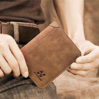 เหล้าองุ่นสามพับบางเฉียบสั้นกระเป๋าสตางค์ผู้ชายกระเป๋าใส่เหรียญเหรียญ - นานาชาติกระเป๋ากระเป๋าสตางค์กระเป๋าสตางค์ผู้ชาย