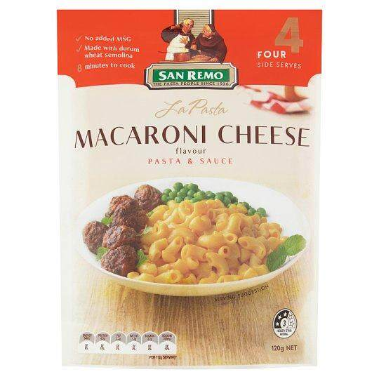 San Remo Instant Macaroni Cheese Pasta & Sauce Flavour 120g