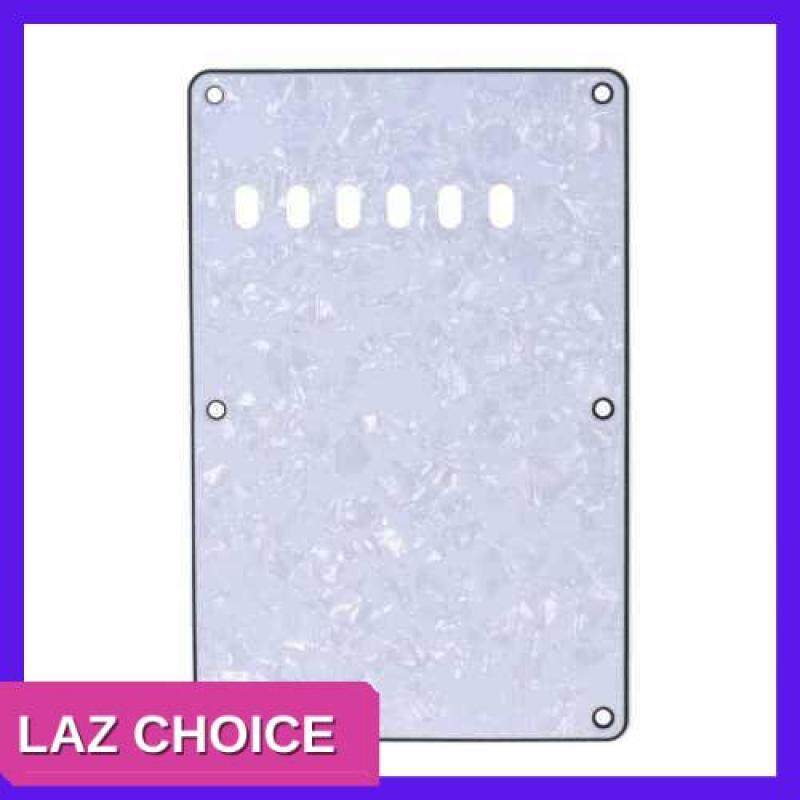 LAZ CHOICE Pickguard Back Plate Tremolo Cavity Cover Vintage Style Backplate for Fender Stratocaster Strat ST Standard Modern Style Electric Guitar 4Ply (White) Malaysia