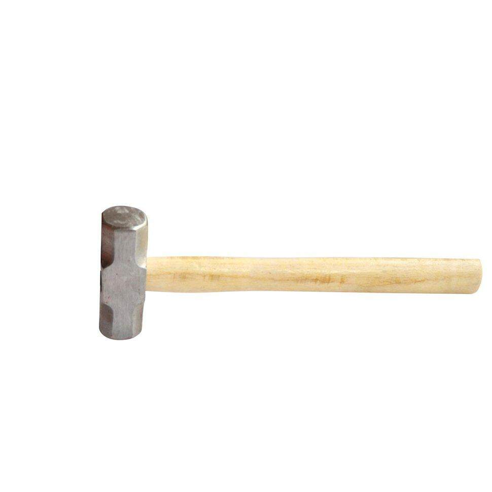 BGD Wooden handle fine red head forged shockproof anti-off square head  hammer