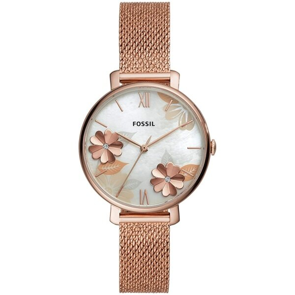 Authentic Fossil Womens jacqueline Floral Rose Gold Tone Watch ES4534 Malaysia