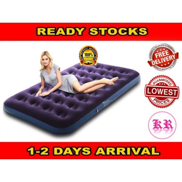 【FREE AIR PUMP】Inflatable Air Bed Mattress Single Double Queen Size Katil Tilam Angin Portable Electric Air Pump