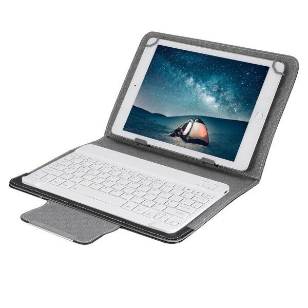 10 Inch Bluetooth Keyboard Tablet Laptop Universal PU Protective Case Cover + Wireless Keyboard for Android/IOS/WIN Malaysia