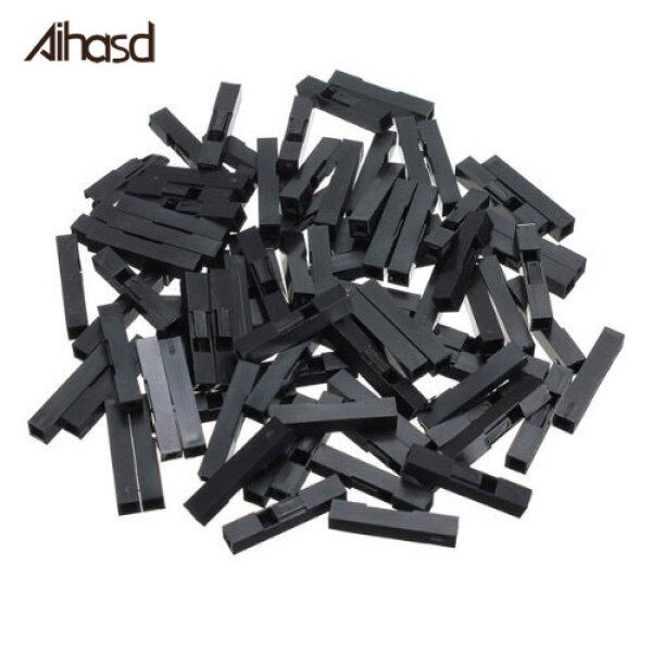 100PCS 1P 2.54mm Plastic Dupont Head Jumper Wire Cable Housing Female Pin Connector