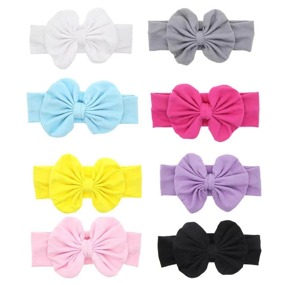 8 Colour Available Baby Girl Elastic Turban Rabbit Bow Design Headbands Head Wrap Hairbands By Ice Bumblebee Ventures.