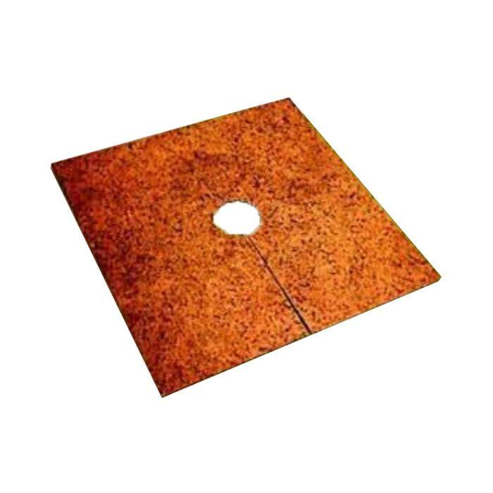 HK Agro Mulching Mat Square Shape With Center Hole & Line 500MM (W) x 500MM (L) x 8MM (T) 50PCS/BDL